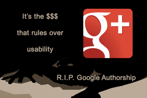 Rest in Paece Google Authorship inkluded a Zombie picture designed by Freepik