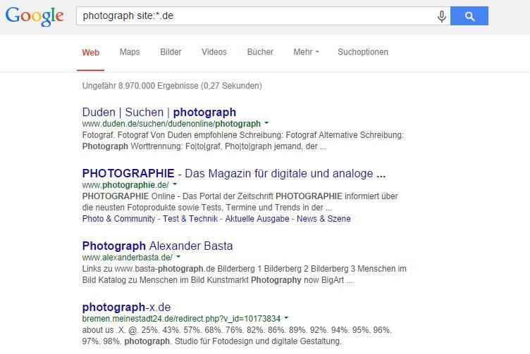 Photograph statt Fotograph