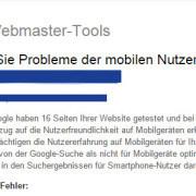 Mobile Probleme bei Google beseitigen
