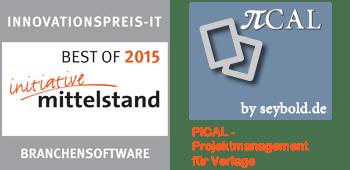 Branchensoftware Best of - Innovationspreis IT 2015 - PiCal - Projektmanagement für Verlage