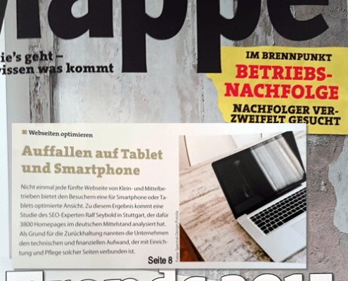 Website Optimieren - Ralf Seybold in MAPPE Malerzeitschrift