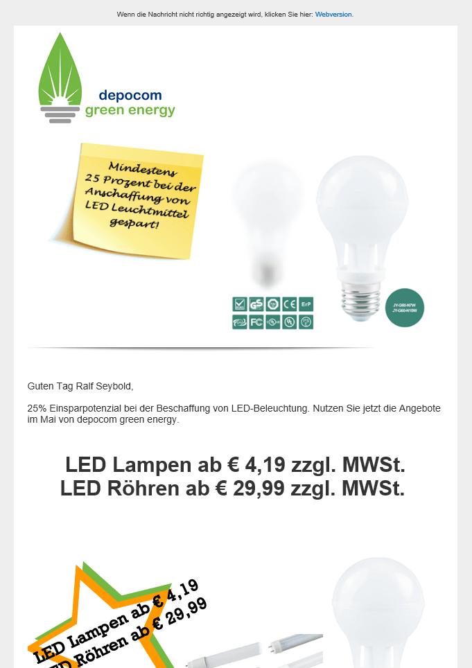 depocom green energy Newsletter