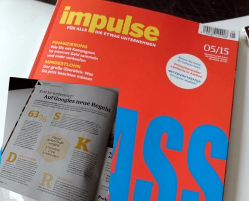 Impulse Unternehmermagazin 05/2015 - Vorbereitet auf Googles neue Regeln