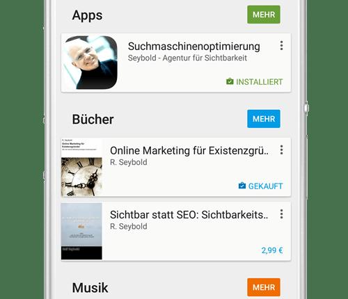 Suchen Sie nach SEYBOLD im Google Playstore oder in iTunes für mehr Informationen zu Sichtbarkeit