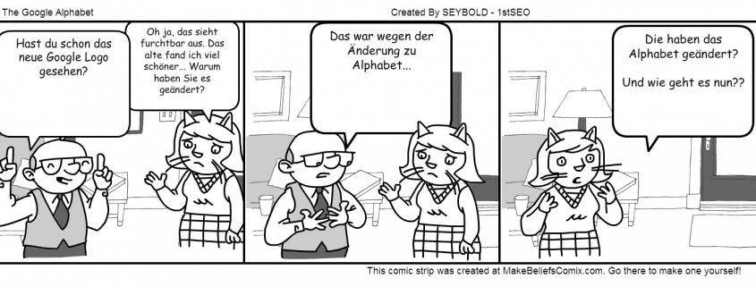 Das Google Alphabet Comic