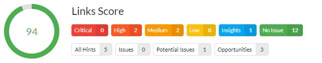 Links Score - Analyse Beispiel