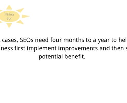 Google SEO Tipp wie lange dauert seo