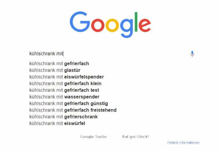 heutiges Suchverhalten in Google