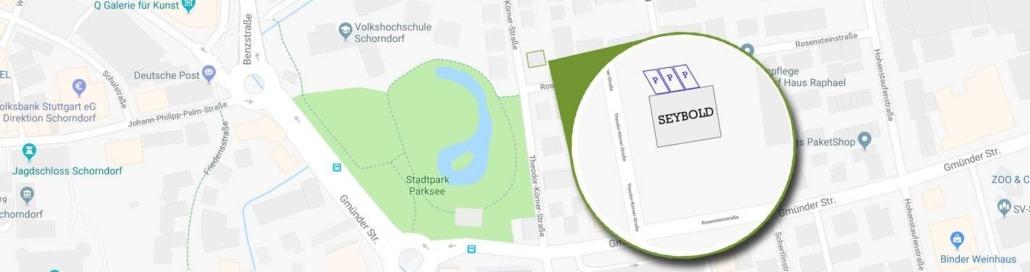 Parkmöglichkeiten SEYBOLD - Agentur für Sichtbarkeit Schorndorf