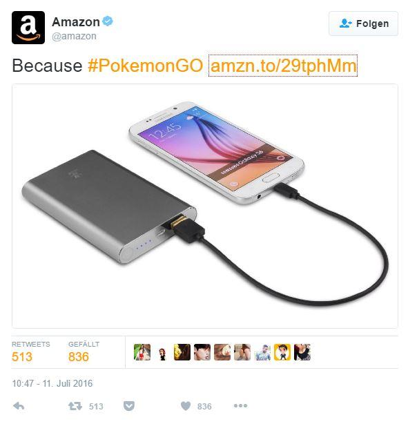 Amazon Werbung mit Pokemon Go