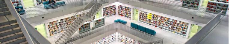 Ähnlich der Landesbibliothek Stuttgart - Wissen über viele Jahre angesammelt