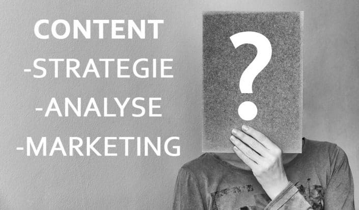 Contentstrategie, -analyse, -marketing
