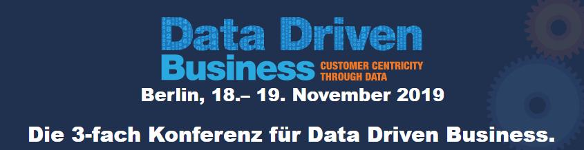 Data Driven Business 2019, Berlin - 18. + 19. November 2019