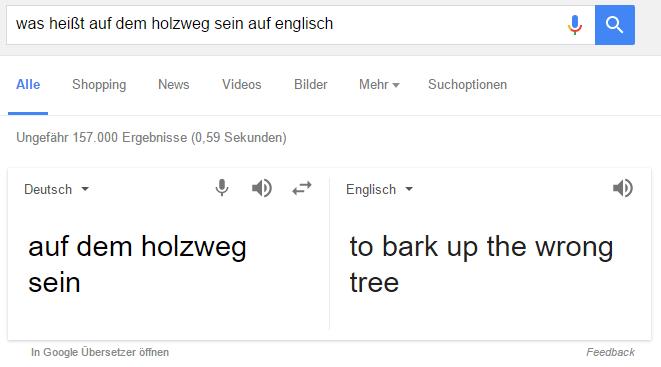 Übersetzungen in Google