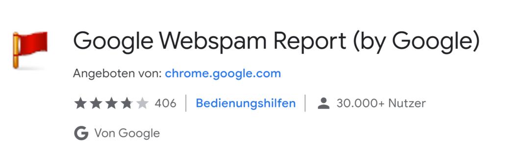 Content Spam melden an Google Webspam Report