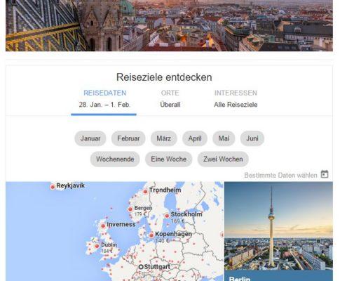 Google günstige Flüge suchen