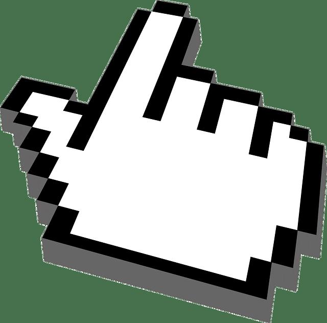 Klickende Hand - Klickrate für organisches SEO verbessern