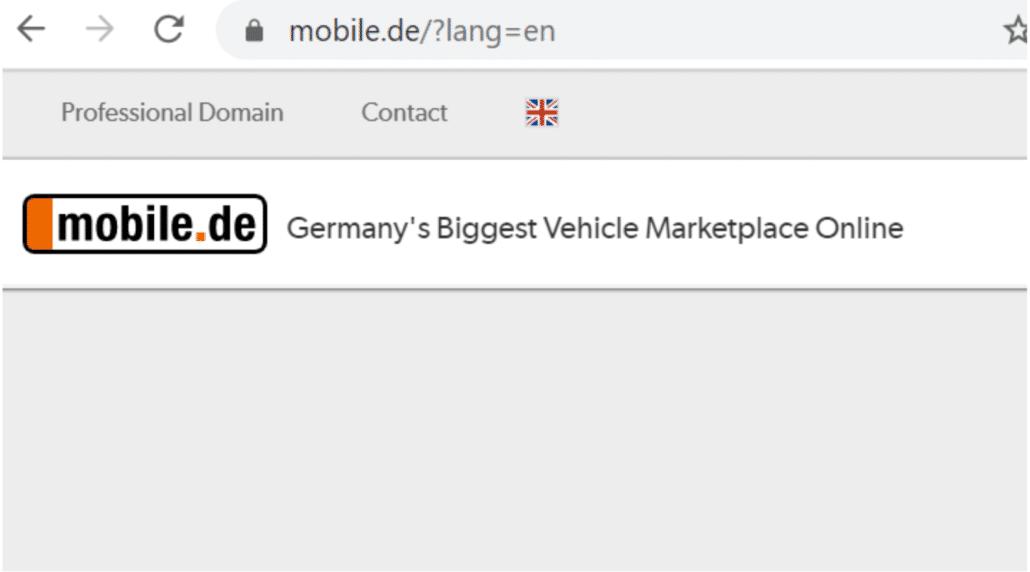 Sprachumschalter per Parameter bei mobile.de
