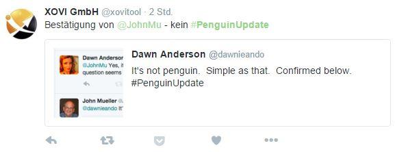 Kein Penguin Update sondern Algorithmus Update