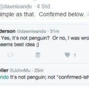 No Penguin confirmed