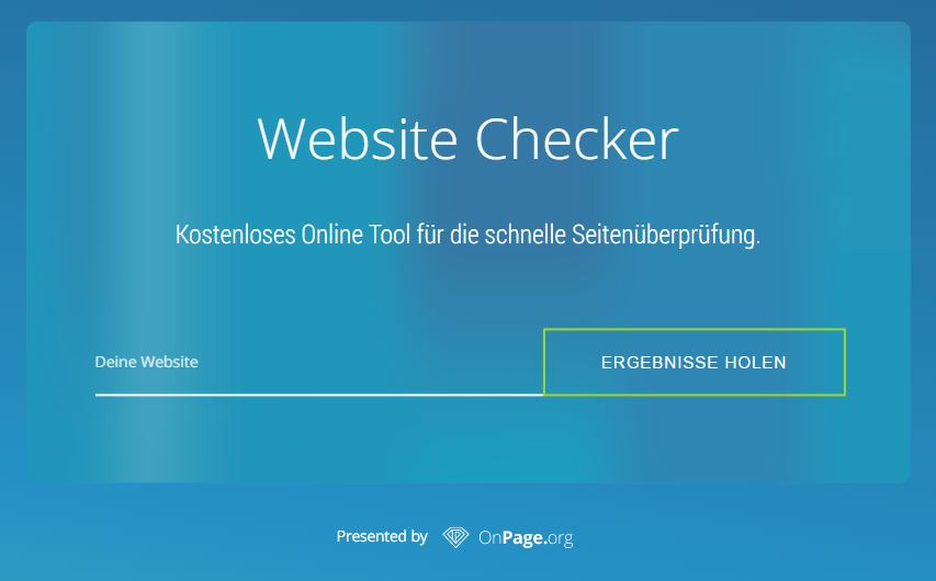 Website Checker - OnPage-SEO-Check