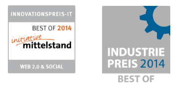 Industriepreis 2014 – Best of und Innovationspreis IT 2014 – Best of Web 2.0 & Social