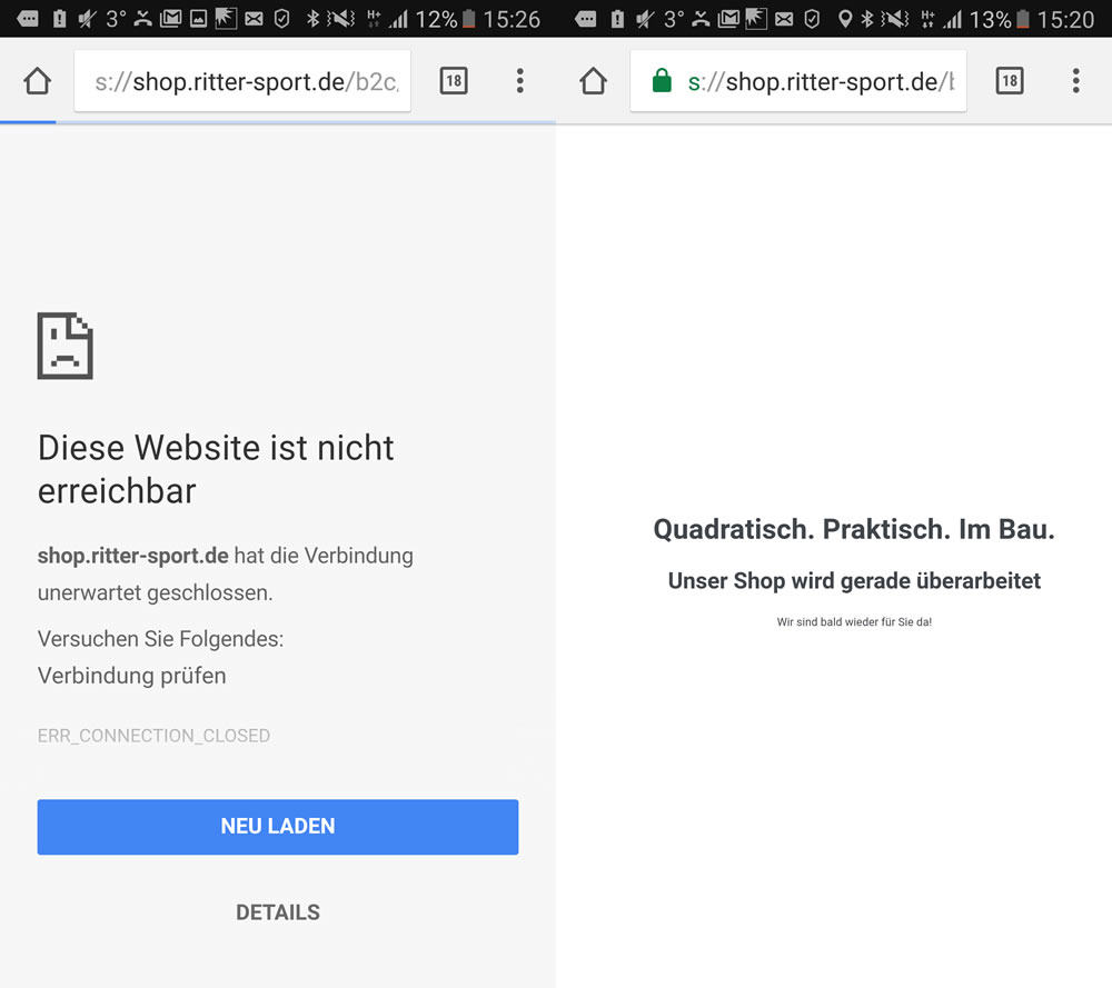 Ritter Sport - Magento Webshop macht die Grätsche