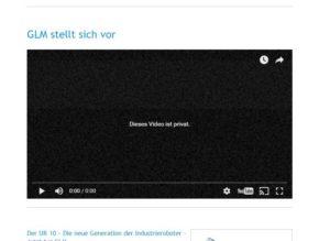 Privates Youtube-Video eingebunden. Wird auf der Startseite gezeigt. Sieht allerdings nur der Ersteller der Seite und nie die Kunden.