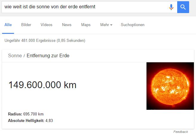 Lexikoninformationen von Google
