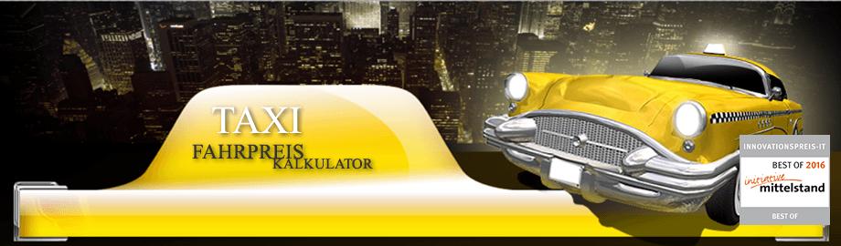 Taxi Fahrpreis Kalkulator - die einfache Integration von Taxitarifen in die Webseite
