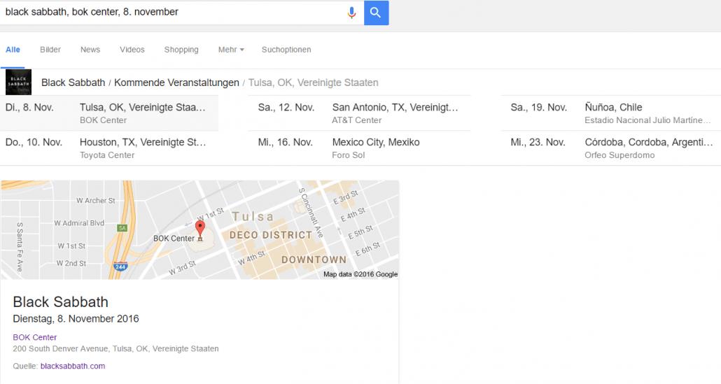 Tickets für eine Veranstaltung buchen in Google