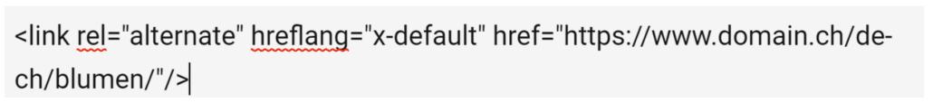 x-default integrieren in hreflang